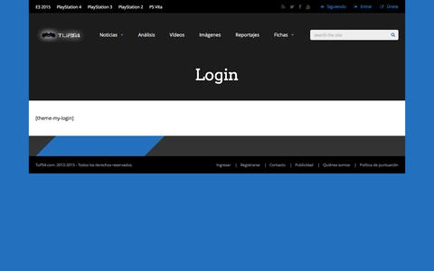 Screenshot of Login Page tups4.com - Login | TuPS4 – PS4 – Noticias y videojuegos de PlayStation4 - captured Jan. 14, 2016