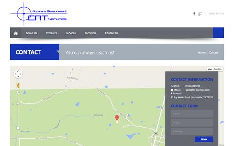 Screenshot of Contact Page crt-services.com - CRT Services - captured Sept. 26, 2014