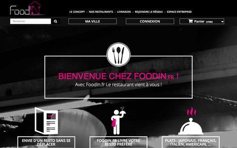 Screenshot of Home Page foodin.fr - Food In, livraison de restaurants sur Aix-en-Provence et agglomŽration - Food In - captured Jan. 8, 2016