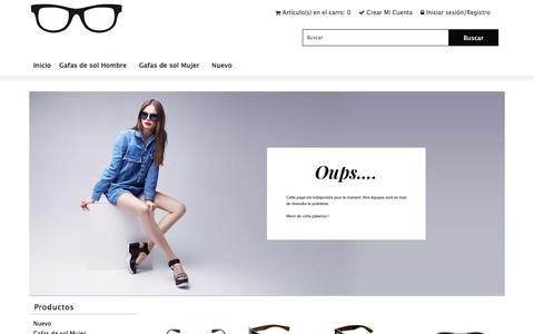 Screenshot of Home Page yoursalesteam.es - barato vidrio transparente, marco rectangular, cristales hembra / macho de diseño, tienda de óptica en línea - captured July 26, 2018