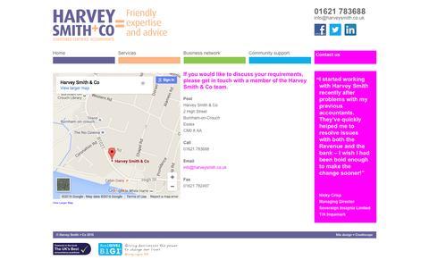 Screenshot of Contact Page harveysmith.co.uk - Contact - captured Jan. 26, 2016