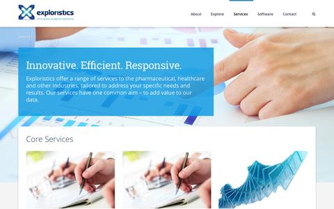 Screenshot of Services Page exploristics.com - Exploristics Services - Exploristics - captured Nov. 2, 2014