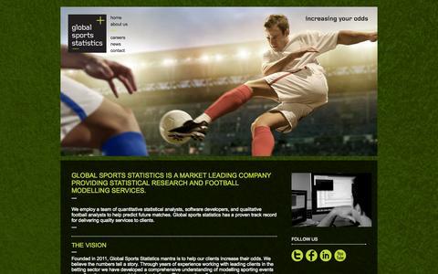 Screenshot of About Page globalsportsstatistics.co.uk - Global Sports Statistics - captured Sept. 30, 2014