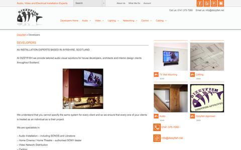 Screenshot of Developers Page dizzyfish.net - Dizzyfish for Developers   Audio, Video, Home Cinema, CCTV, Digital Signage Experts    Ayrshire, Kilmarnock,  Glasgow, Edinburgh, Scotland - captured Sept. 27, 2016