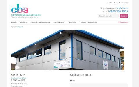Screenshot of Contact Page commercebusinesssystems.co.uk - Contact Us : Commerce Business Systems - captured Nov. 10, 2016