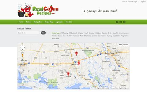 Screenshot of Maps & Directions Page realcajunrecipes.com - Upcoming Events | RealCajunRecipes.com: The #1 Cajun recipe website in the world. - captured Oct. 26, 2014