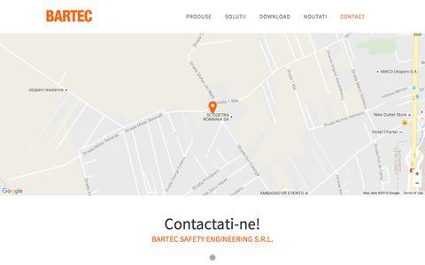 Screenshot of Contact Page bartec-safety.ro - Contact - Bartec : Bartec - captured Nov. 22, 2016