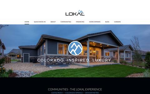 Screenshot of Home Page lokalhomes.com - LOKAL HOMES - Lokal Homes – New semi-custom homes in Colorado's front range - captured May 21, 2017