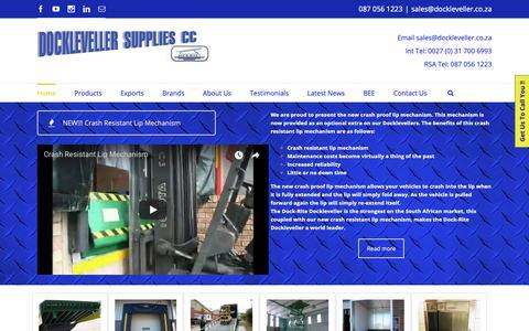 Screenshot of Home Page dockleveller.co.za - Dockleveller | Dockleveller Supplies | Dock Rite Brand | Lift Tables | Dock Levellers | Scissor Lifts | Sectional Doors - captured Oct. 9, 2018