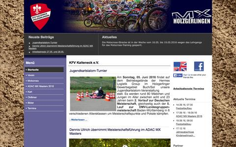 Screenshot of Home Page kfv-kalteneck.de - KFV Kalteneck e.V. - captured June 6, 2016