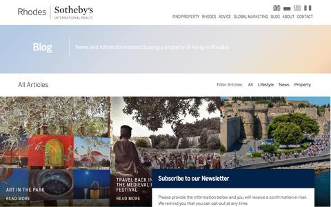 Screenshot of Blog savvaidis.com - Blog Archive - Rhodes Sotheby's International Realty - captured June 22, 2017