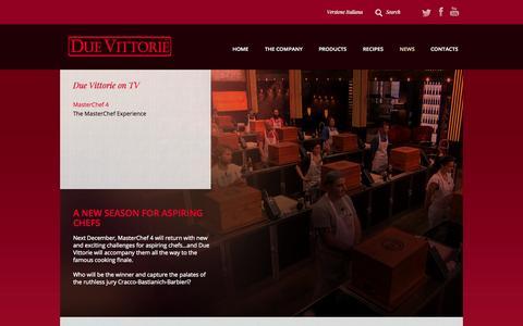 Screenshot of Press Page duevittorie.com - Aceto Balsamico Due Vittorie » MasterChef 4 - captured Oct. 29, 2014