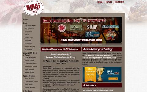 Screenshot of Press Page drybagsteak.com - DrybagSteak.com UMAI Press Notes | Dry Aged Steak Pros | Dry Aging Beef - captured Oct. 22, 2015