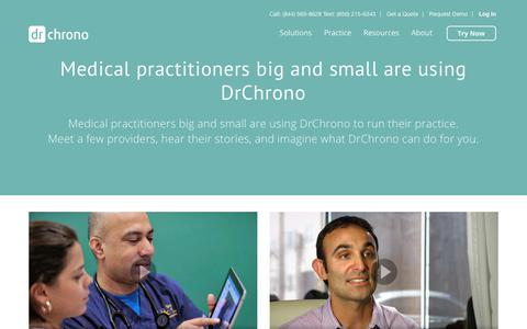 Screenshot of Testimonials Page drchrono.com - Top EHR Reviews& EMR testimonials from Physicians | DrChrono - captured July 13, 2018