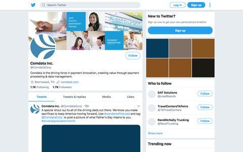 Tweets by Comdata Inc. (@ComdataCorp) – Twitter