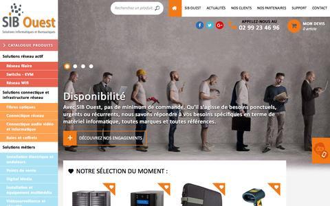 Screenshot of Home Page sib-ouest.fr - SIB Ouest - Solutions Informatiques et Bureautiques pour professionnels - captured May 16, 2017