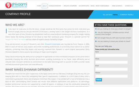 About  Company Profile - Shivaami Cloud Services Pvt Ltd