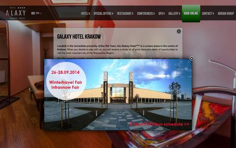 Screenshot of Menu Page galaxyhotel.pl - Hotel Galaxy**** Kraków - Witamy! - GALAXY HOTEL KRAKOW - captured Sept. 29, 2014