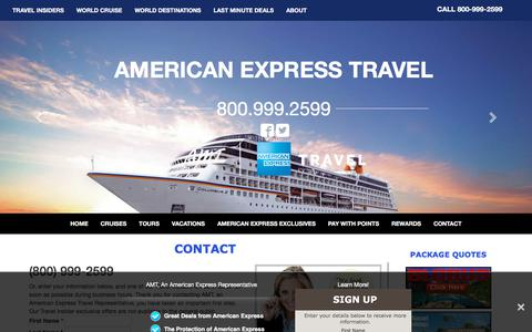 Screenshot of Contact Page amttravel.com - Contact AMT, an American Express Travel Representatives - captured Oct. 7, 2017