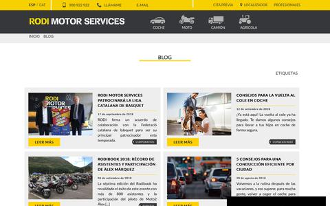 Screenshot of Blog rodi.es - RODI MOTOR SERVICES - Blog - captured Sept. 25, 2018