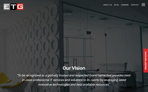 Screenshot of About Page etisbew.com - About Us - Custom Software Development Company - Etisbew - captured July 13, 2019