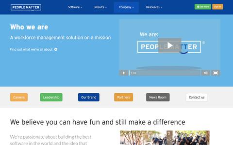 Screenshot of About Page peoplematter.com - Company | PeopleMatter - captured March 21, 2016