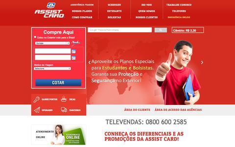 Screenshot of Home Page assist-card.com.br - ASSIST CARD - Internacional e Nacional - Seguro Viagem - captured Sept. 19, 2014