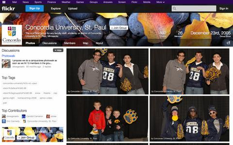 Screenshot of Flickr Page flickr.com - Flickr: The Concordia University, St. Paul Pool - captured Oct. 22, 2014