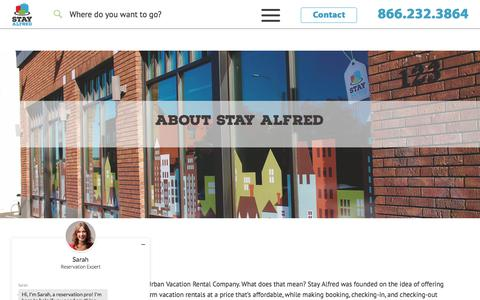 Screenshot of About Page stayalfred.com - About Stay Alfred - Stay Alfred Vacation Rentals - captured June 27, 2017