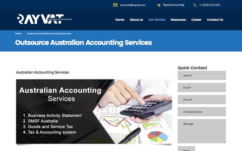 Outsource Australian Accounting Services - Rayvat Accounting