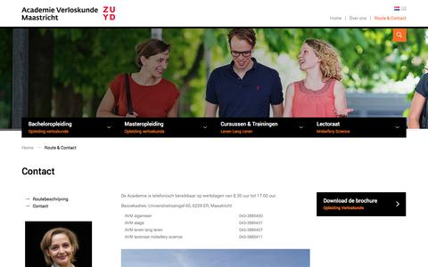 Screenshot of Contact Page av-m.nl - Contact - captured Oct. 7, 2017