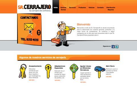 Screenshot of Home Page srcerrajero.com - Sr. Cerrajero ® - captured Oct. 7, 2014