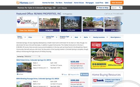 Colorado Springs, CO Homes for Sale & Colorado Springs Real Estate at Homes.com | 4080 Listings of Homes for Sale