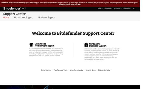 Antivirus Support - Bitdefender UK Support Centre