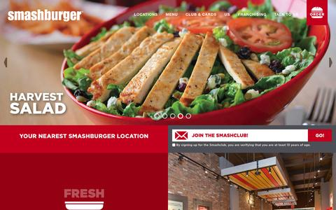 Screenshot of Home Page smashburger.com - Home - Smashburger - captured Oct. 1, 2015