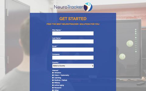 Screenshot of About Page Contact Page neurotracker.net - NeuroTracker Information and Trial - captured Sept. 29, 2016