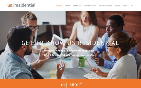 Screenshot of About Page usrgroup.com - US Residential - captured Oct. 1, 2018