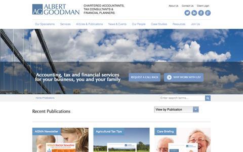 Publications - Albert Goodman - Chartered Accountants