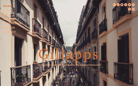 Screenshot of Home Page giliapps.com - Giliapps | Apps & Games Developer - captured Sept. 29, 2014