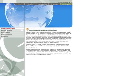 Screenshot of About Page goodrockcapital.com - GOODROCK CAPITAL .: Company Information :. - captured Sept. 30, 2014