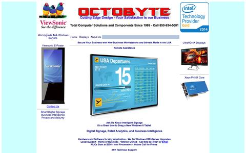 Screenshot of Support Page octobyte.net - Computer Engineering Services Gulf Breeze Florida 850-934-5001 - Computers Microsoft - Intel - Workstations - Servers - Networks - Programs - Custom Spreadsheets - Data Recovery - Power Systems - captured Oct. 27, 2014