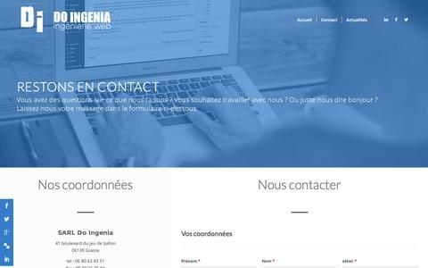 Screenshot of Contact Page doingenia.com - Contact | Do Ingenia - captured Jan. 7, 2016