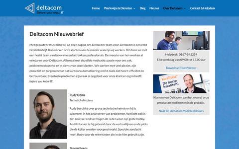 Screenshot of Team Page deltacom.nl - Over Deltacom: hecht team van ICT experts   Deltacom - captured Oct. 12, 2017