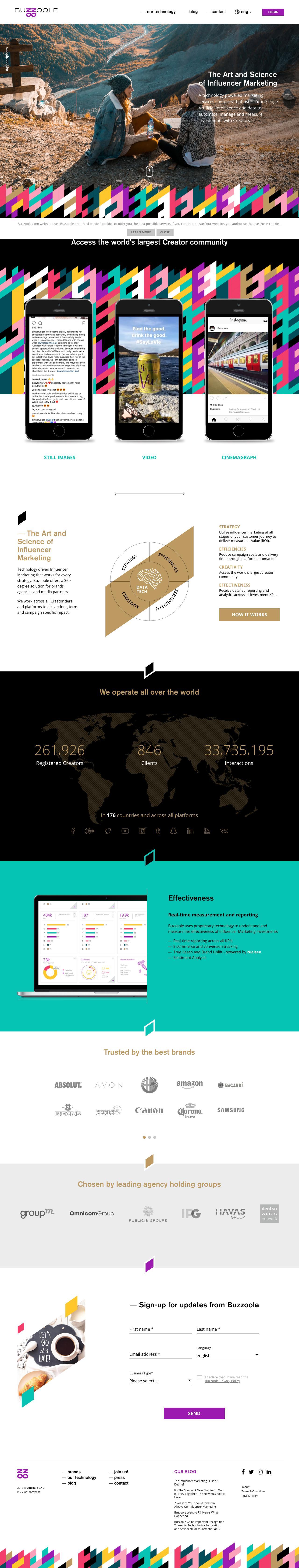 Screenshot of buzzoole.com - Influencer Marketing Platform        | Buzzoole - captured June 1, 2018
