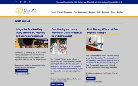 Screenshot of Services Page deept.com - What We Do Archives - DeePT - captured Nov. 24, 2016