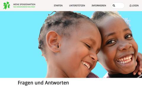 Screenshot of FAQ Page meine-spendenaktion.de - Informationen - Fragen und Antworten - Meine Spendenaktion - SOS-Kinderdörfer weltweit - captured March 25, 2017