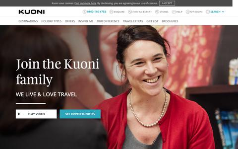 Screenshot of Jobs Page kuoni.co.uk - Kuoni Jobs - Careers at Kuoni - We live and love travel - captured May 6, 2018