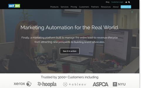 Screenshot of Home Page act-on.com - Marketing Automation and Email Marketing - Act-On - captured Dec. 14, 2015
