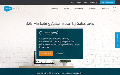 Pardot B2B Marketing Automation by Salesforce