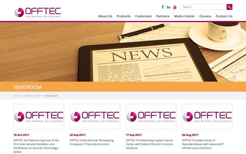 Screenshot of Press Page offtec.com - OFFTEC's Recent News and Latest Technology Updates | OFFTEC - captured Nov. 12, 2017